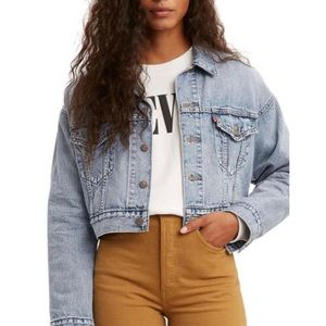 Levi's Crop Dad Trucker Jkt- NEW WITH TAGS